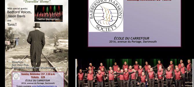 "Halifax Harmonizers Chorus present Annual Christmas Show ""Travellin' Home"""